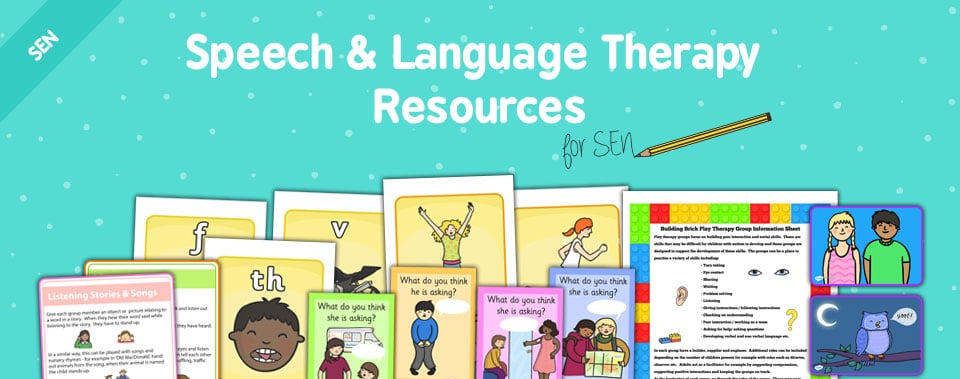 Sen speech and language resources on Twinkl