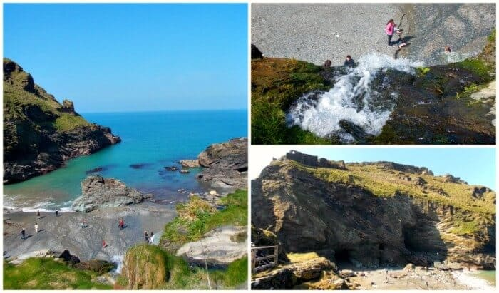 Tintagel Castle beach Cornwall