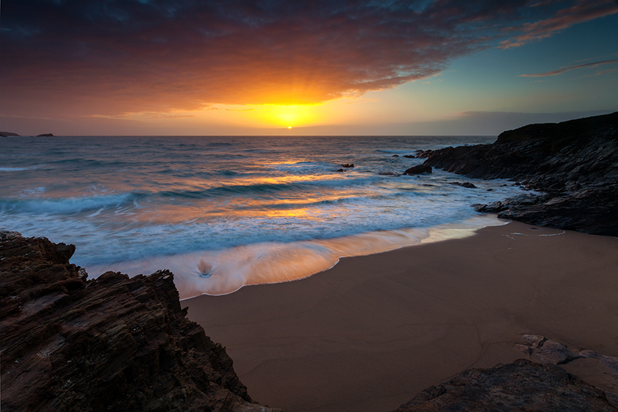 Little Fistral sunset Cornwall