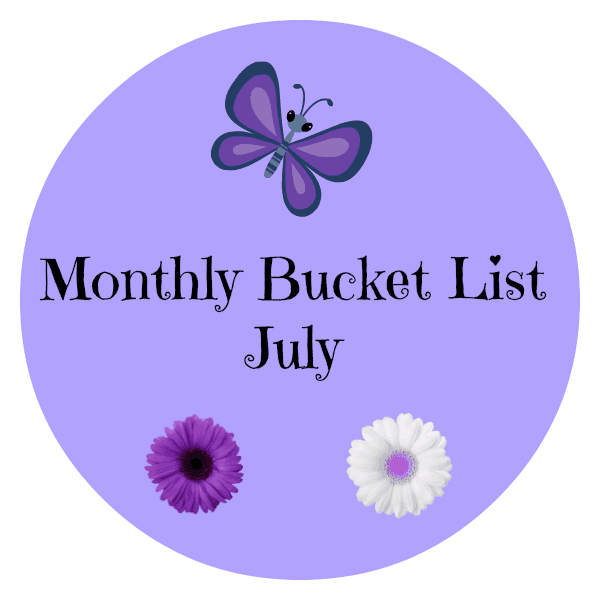 Monthly Bucket List - July