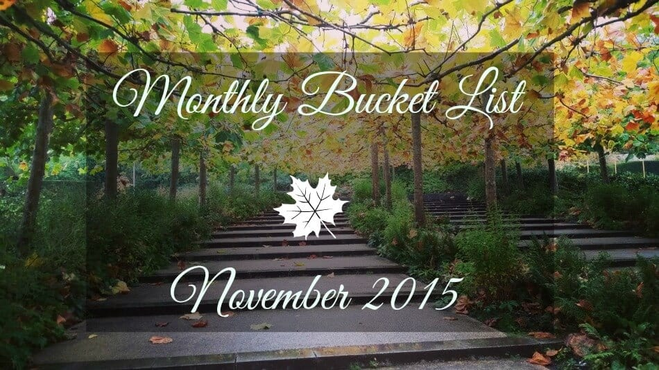 Monthly Bucket List – November