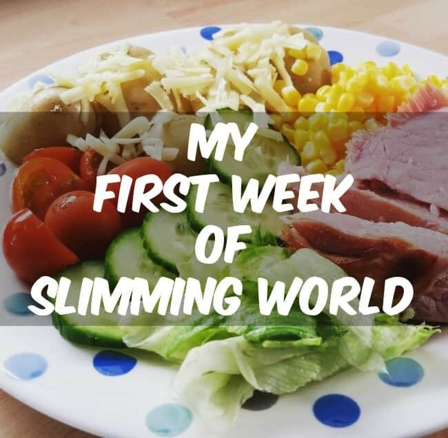 First week of slimming world