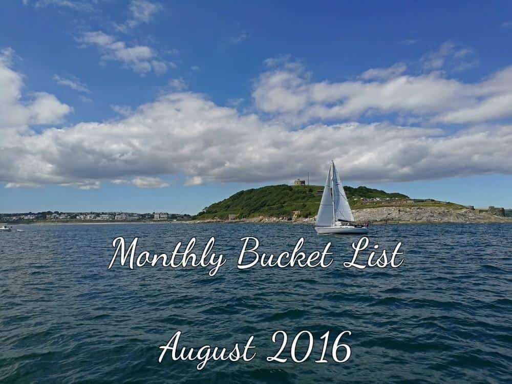 Monthly Bucket List - boat and the sea