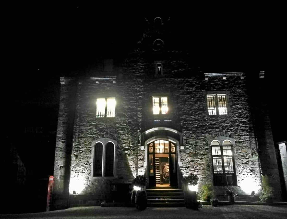 Bodmin Jail at night time