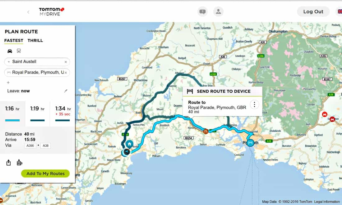 TomTom Route Plan