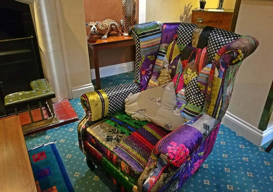 Moorland Garden Hotel - quirky colourful armchair