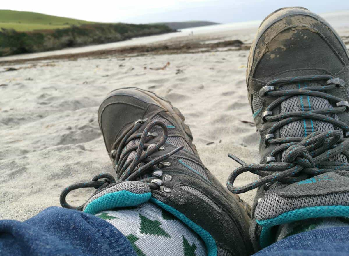 Socksies on the beach