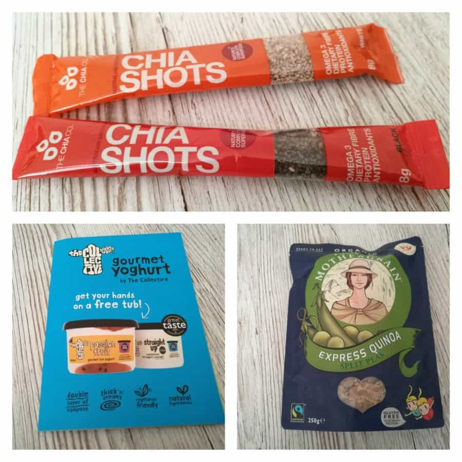 Degustabox January 2017 - Chia shots, The Collective and Quinoa