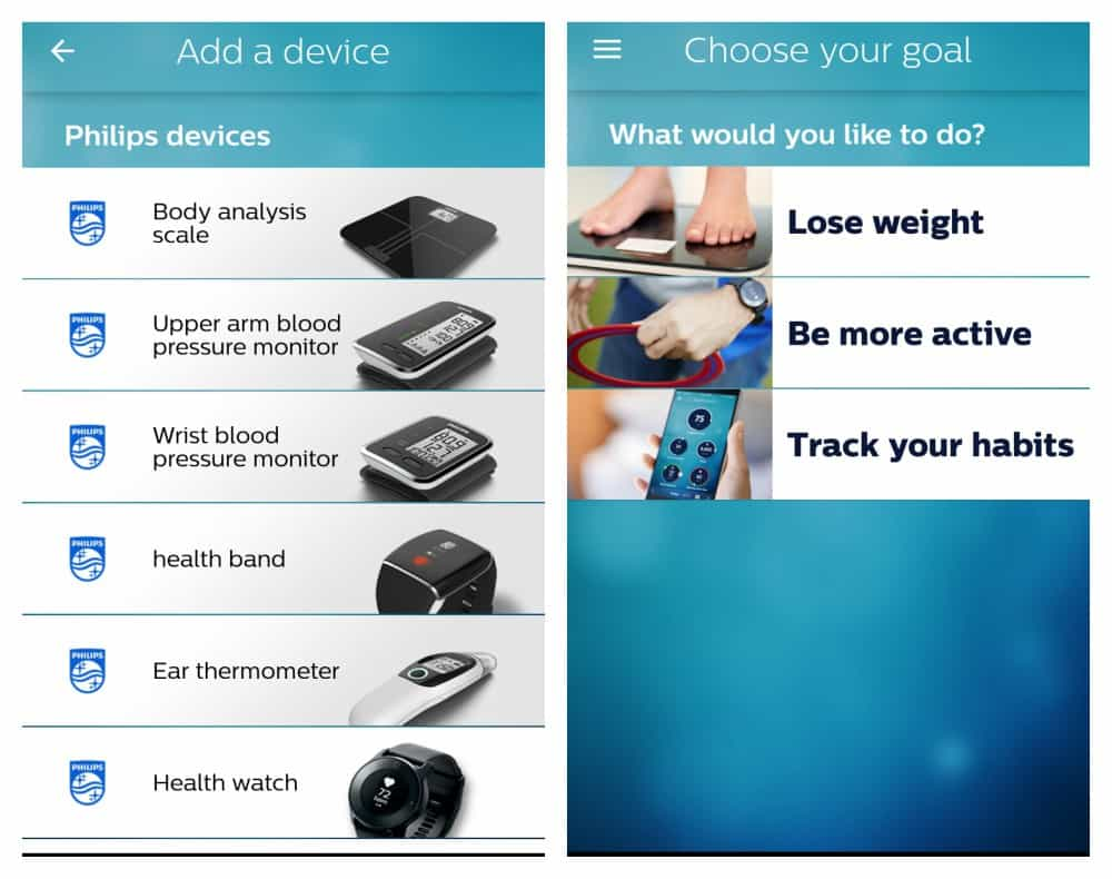 Philips health watch and health app