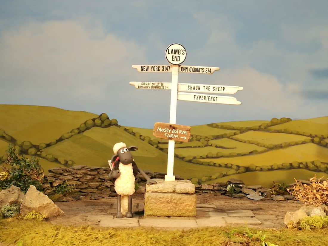 Shaun the Sheep at Land's End
