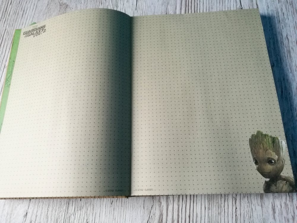 Guardians of the Galaxy vol 2 Groot journal