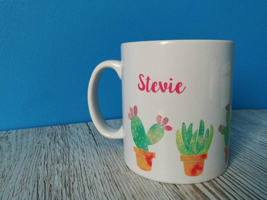 Prickly Before Coffee Personalised Mug - A Cornish Mum