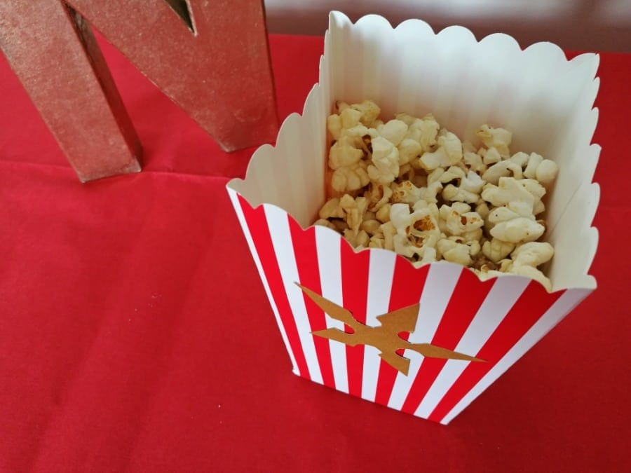 Cineworld Ninjago themed party popcorn