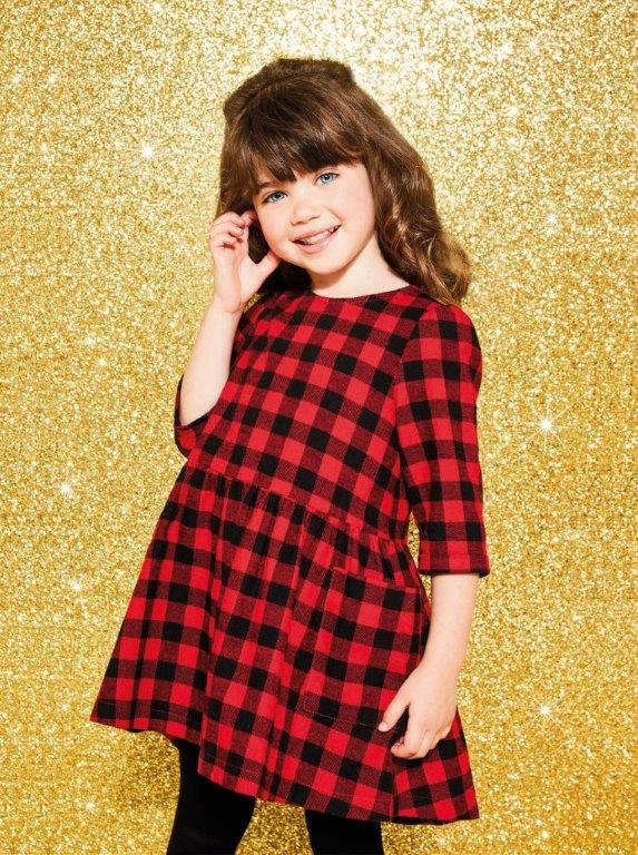 Nutmeg girls checked dress