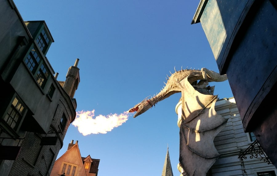 Harry Potter dragon Universal Studios