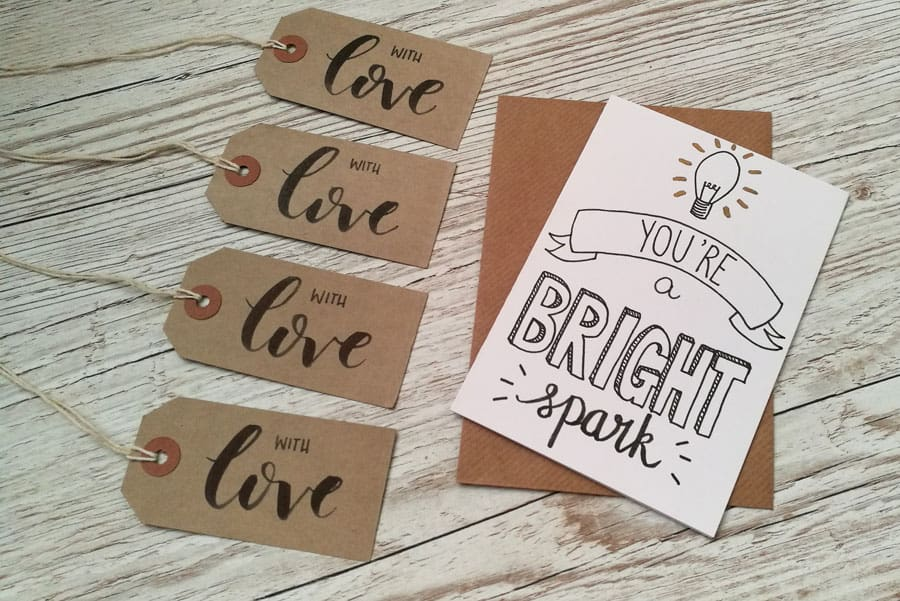 Bright spark and with love