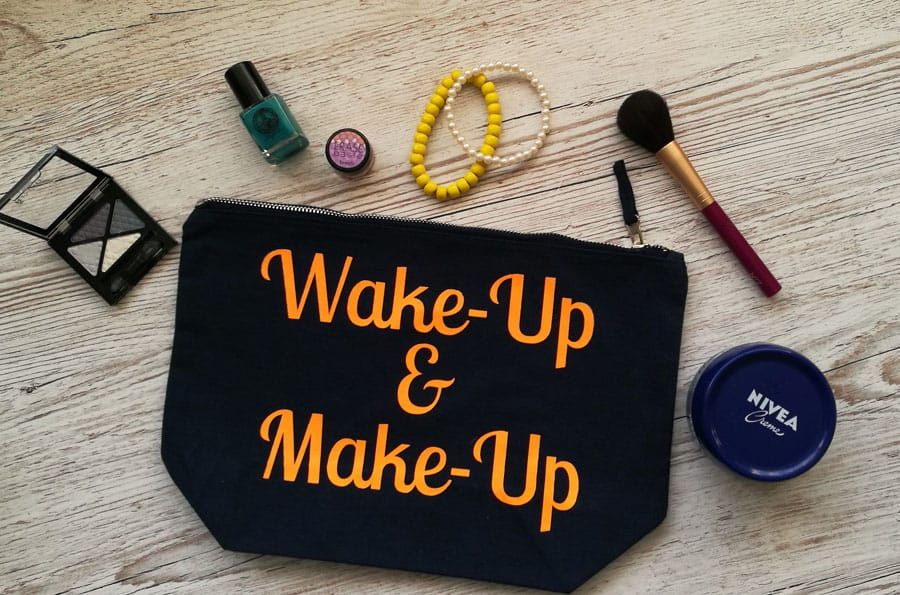 Wake-Up and Make-Up make-up bag from Pink Sorbet