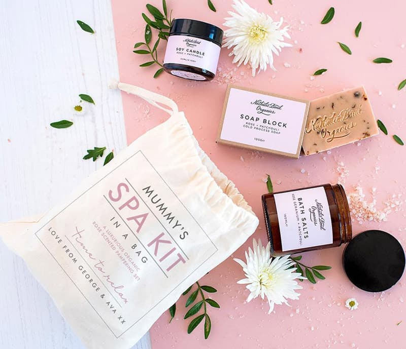 The Little Picture Company spa kit in a bag
