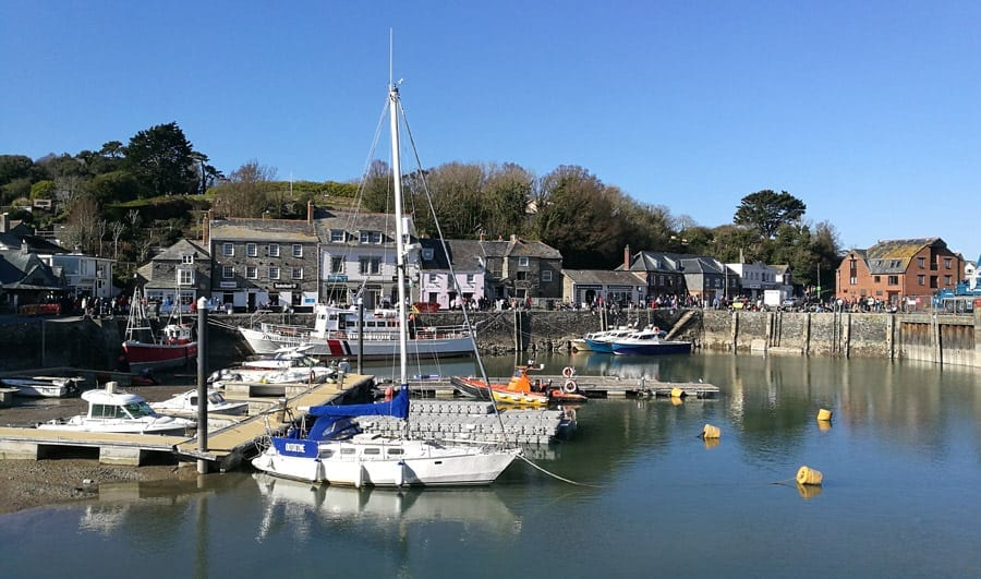 Padstow harbour boats