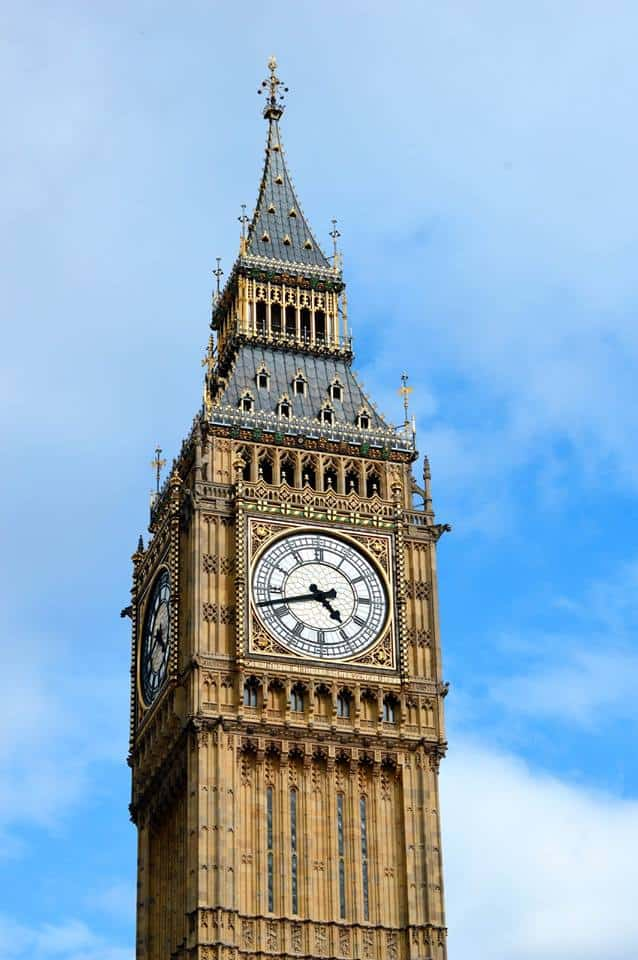 Big Ben and blue skies