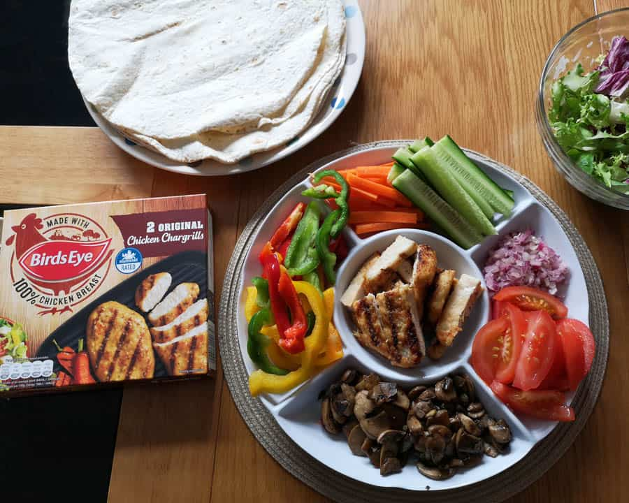 Make your own Rainbow chicken chargrill wraps with Birdseye