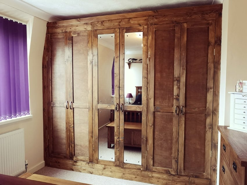 Our new DIY wood wardrobes