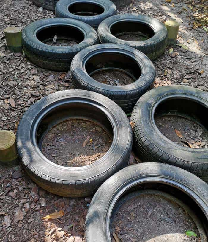 tyres obstacle course