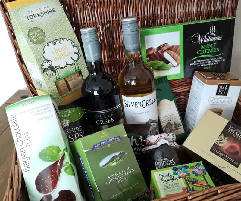 Hamper contents close-up