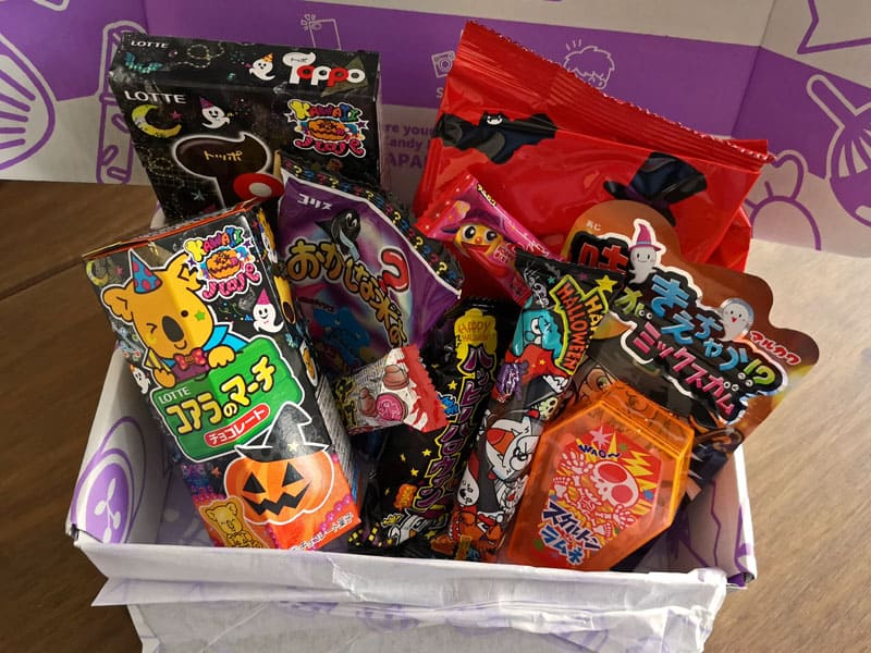 Japan Candy Box contents Halloween