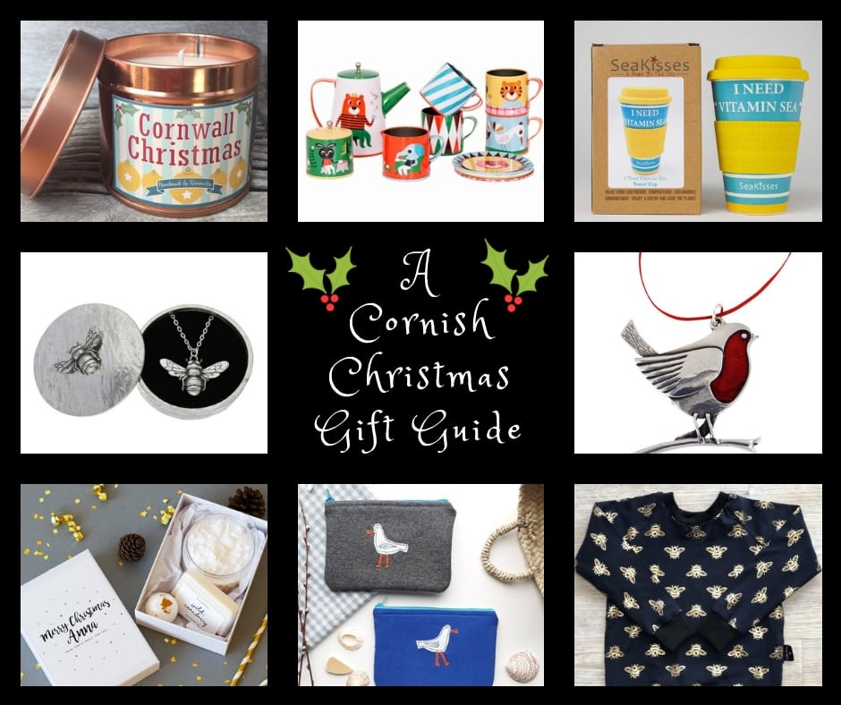 A Cornish Cornwall gift guide featuring Cornish brands and items related to Cornall