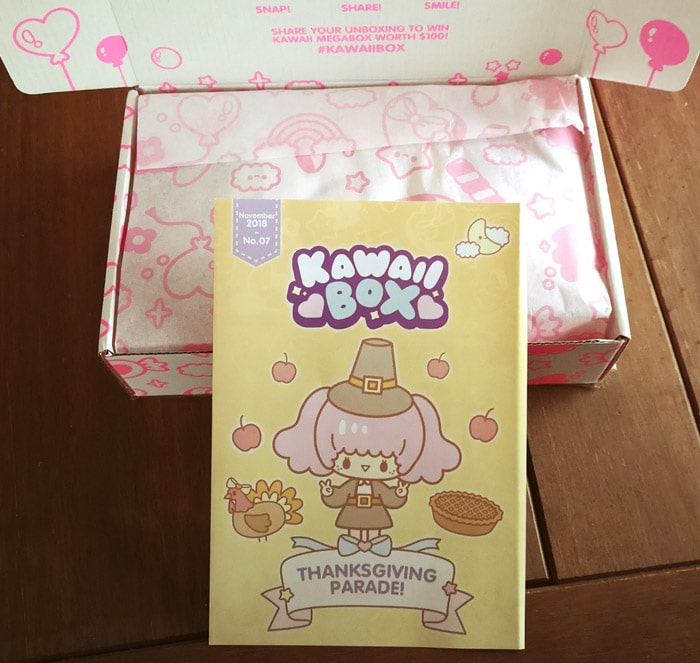 Kawaii Box Thanksgiving parade leaflet