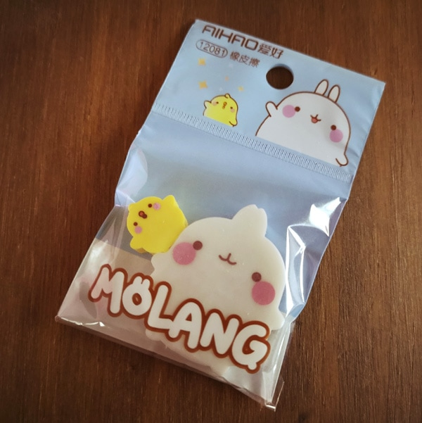 Kawaii Molang erasers