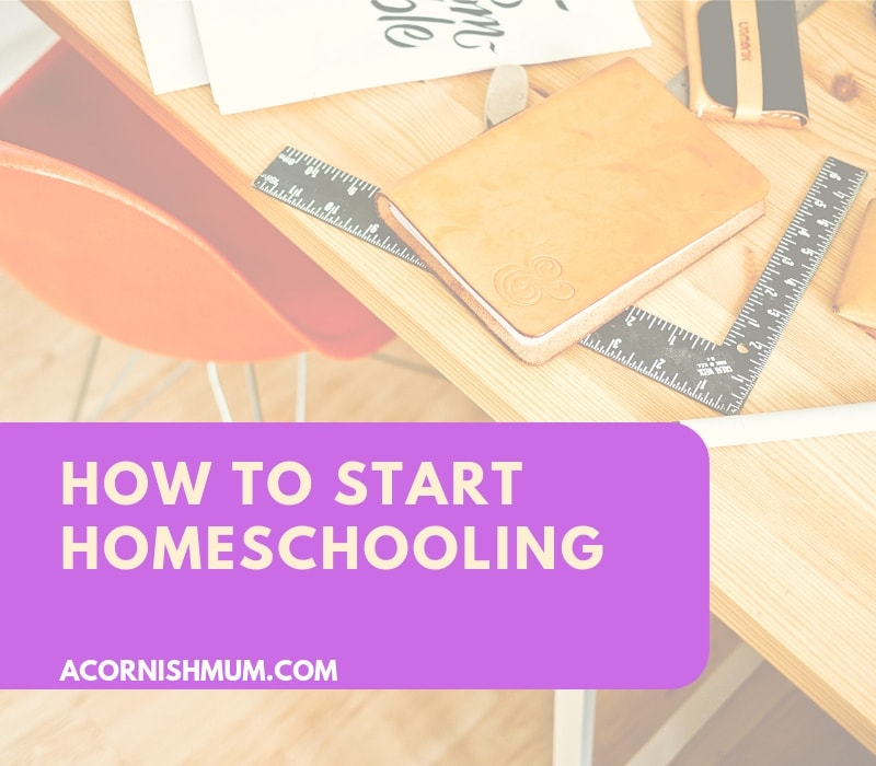 How to start homeschooling - image of a desk and stationery