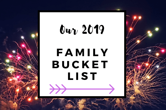 Our 2019 family bucket list jar label