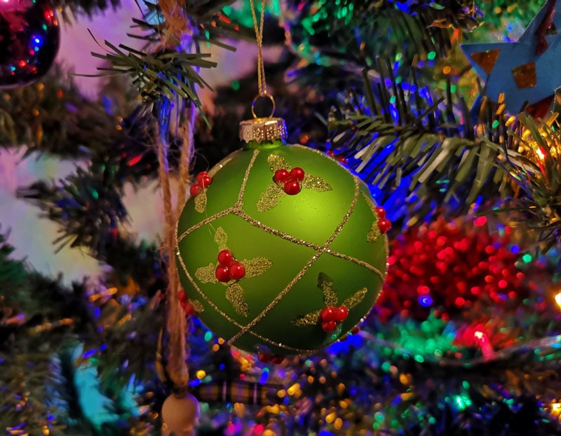 Bauble on our Christmas tree