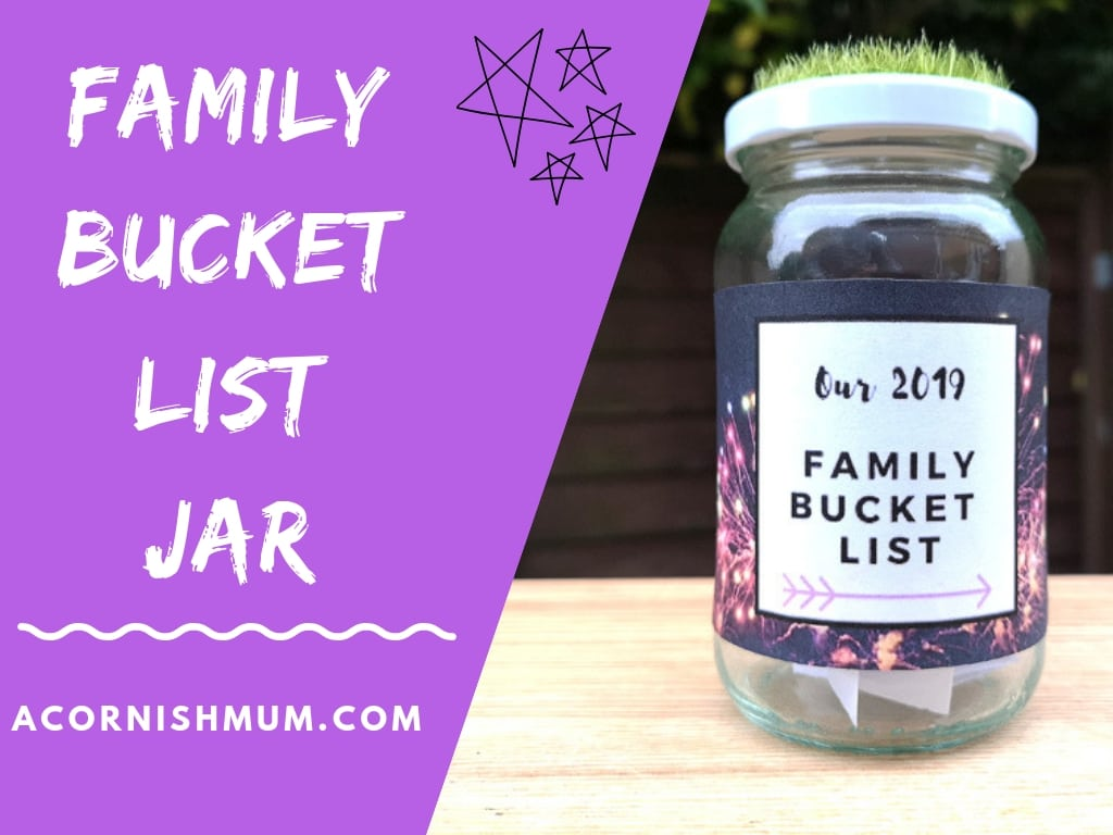 2019 Bucket List Family Jar for Memory Making