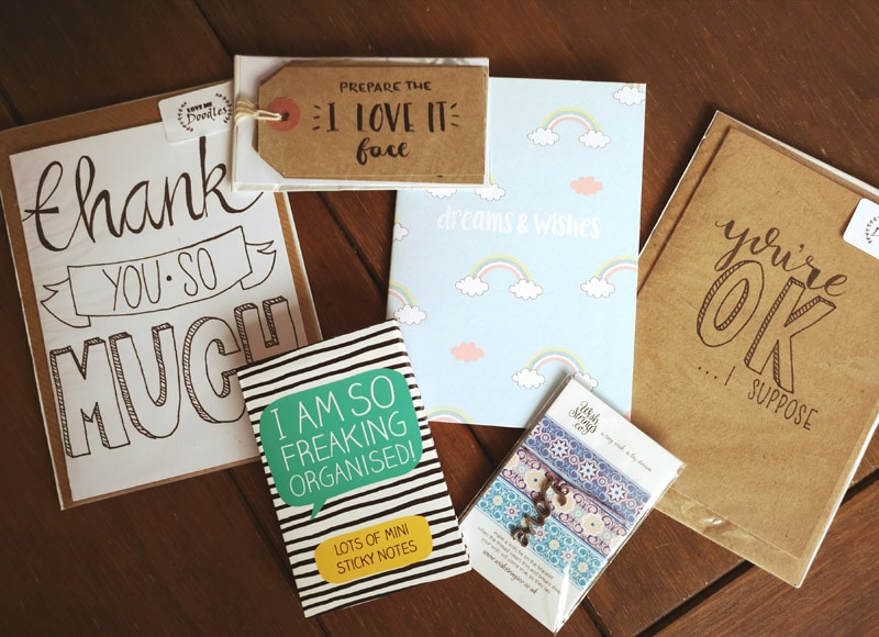 Blog birthday giveaway prizes - as listed in the post