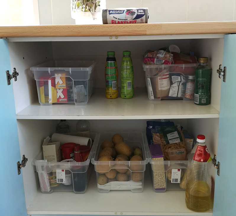 Food cupboard after a spring clean