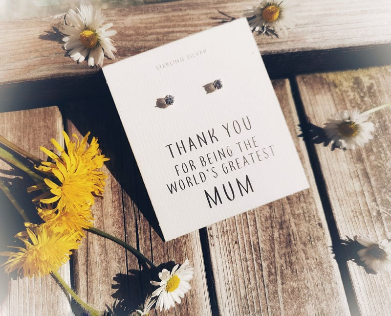 Philip Jones earrings - Thank you for being the World's greatest Mum