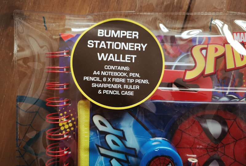 Bumper stationery wallet - Spiderman stationery
