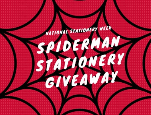 National Stationery Week Spiderman giveaway